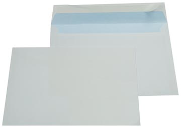 Gallery enveloppen ft 162 x 229 mm, stripsluiting, binnenzijde blauw, doos van 500 stuks