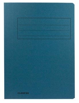 Class'ex dossiermap, 3 kleppen ft 23,7 x 32 cm (voor ft A4), blauw