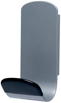 Unilux muurkapstok Steely, magnetisch, 1 haak, grijs