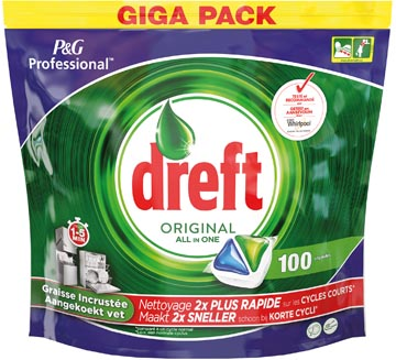 Dreft vaatwastabletten All in One Original, pak van 100 tabletten