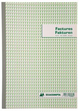 Exacompta factuurboek, ft 29,7x21 cm, tweetalig, dupli (50 x 2 vel)