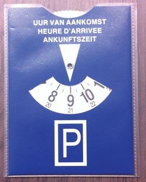 Parkeerschijf in transparante etui, blauw