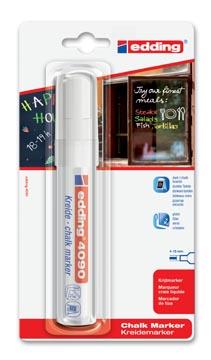 Edding Krijtmarker e-4090 wit, op blister