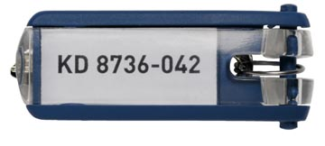 Durable sleutelhanger Key Clip, blauw, pak van 6 stuks