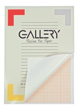 Gallery millimeterpapier, ft 21 x 29,7 cm (A4), blok van 50 vel