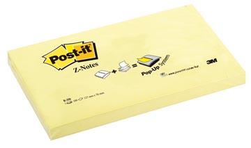 Post-it Z-Notes, ft 76 x 127 mm, geel, blok van 100 vel
